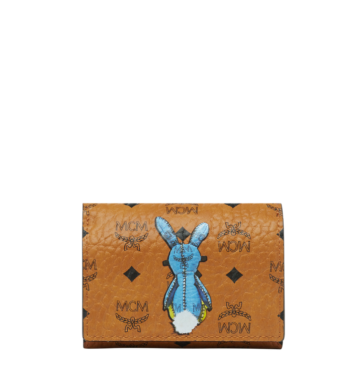 MCM Rabbit Three Fold Coin Case in Visetos MYS8SXL36CO001 AlternateView3