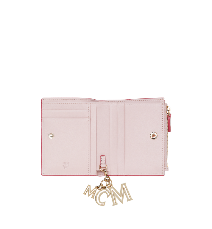 MCM Two Fold Flat Wallet in Monogram Leather Charm MYS9SKM13QA001 AlternateView4