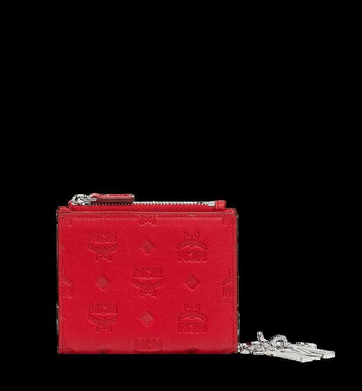 MCM Flache gefaltete Brieftasche aus Leder mit Monogramm Anhänger MYS9SKM13RJ001 AlternateView