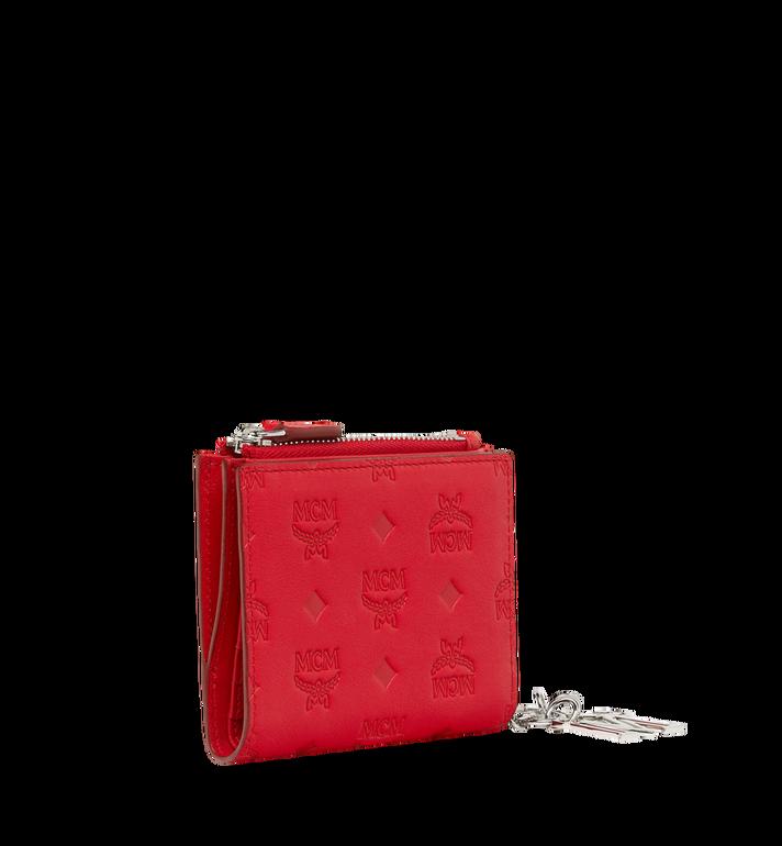 MCM Flache gefaltete Brieftasche aus Leder mit Monogramm Anhänger MYS9SKM13RJ001 AlternateView2