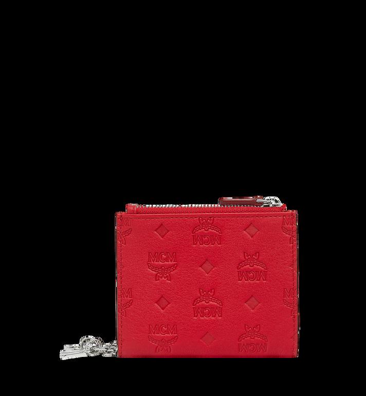 MCM Flache gefaltete Brieftasche aus Leder mit Monogramm Anhänger MYS9SKM13RJ001 AlternateView3