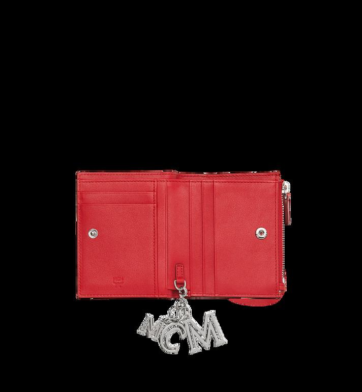 MCM Flache gefaltete Brieftasche aus Leder mit Monogramm Anhänger MYS9SKM13RJ001 AlternateView4