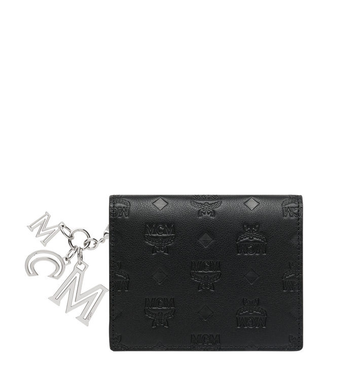 MCM Flat Wallet in Monogram Leather Charm MYS9SKM40BK001 AlternateView