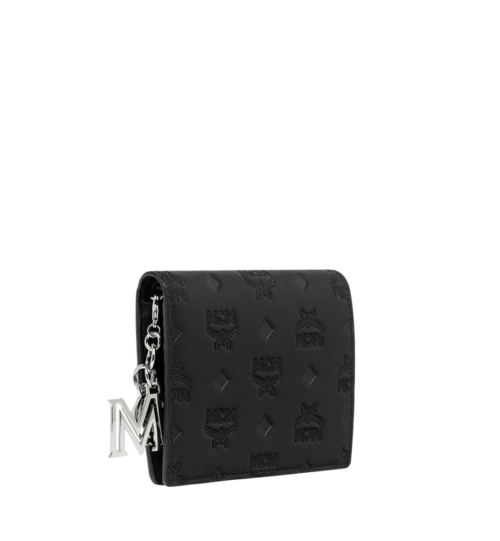 MCM Flat Wallet in Monogram Leather Charm MYS9SKM40BK001 AlternateView2