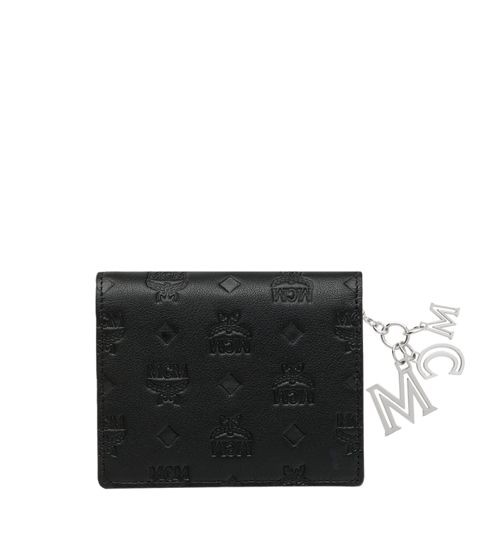 MCM Flat Wallet in Monogram Leather Charm MYS9SKM40BK001 AlternateView3