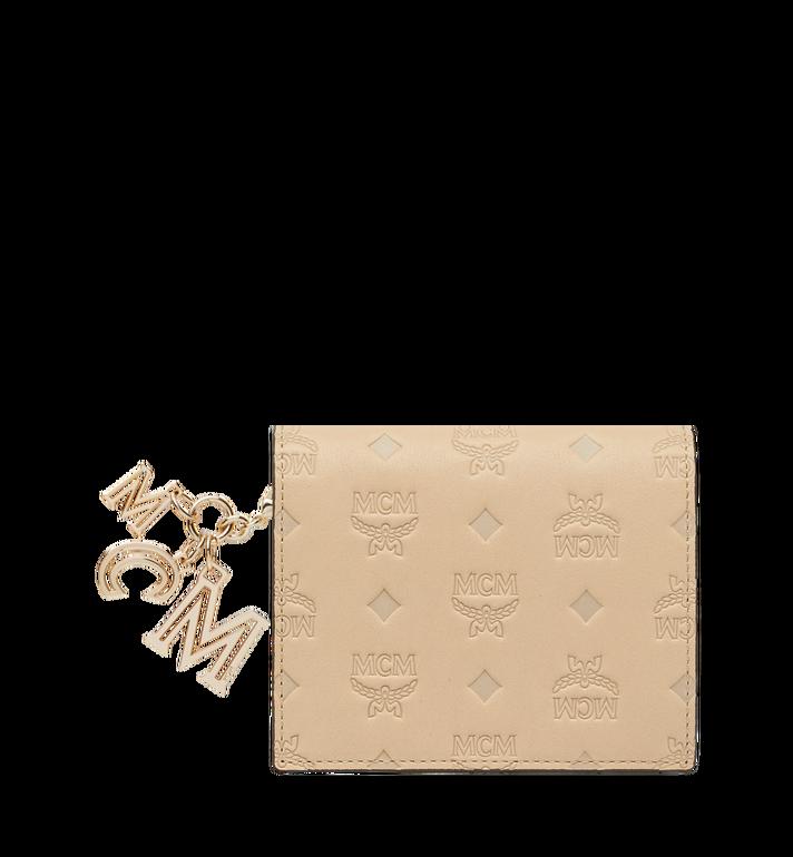 MCM Portefeuille plat en cuir monogrammé avec breloque MYS9SKM40IA001 AlternateView
