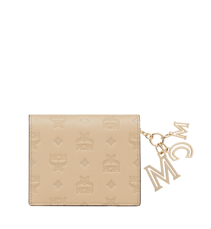 MCM Portefeuille plat en cuir monogrammé avec breloque MYS9SKM40IA001 AlternateView3