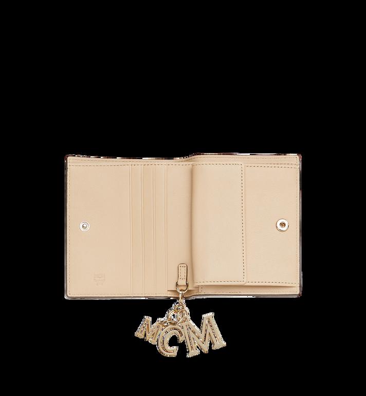 MCM Portefeuille plat en cuir monogrammé avec breloque MYS9SKM40IA001 AlternateView4