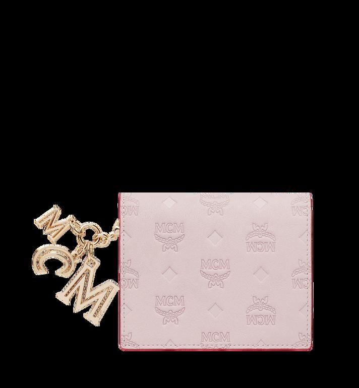 MCM Portefeuille plat en cuir monogrammé avec breloque MYS9SKM40QA001 AlternateView