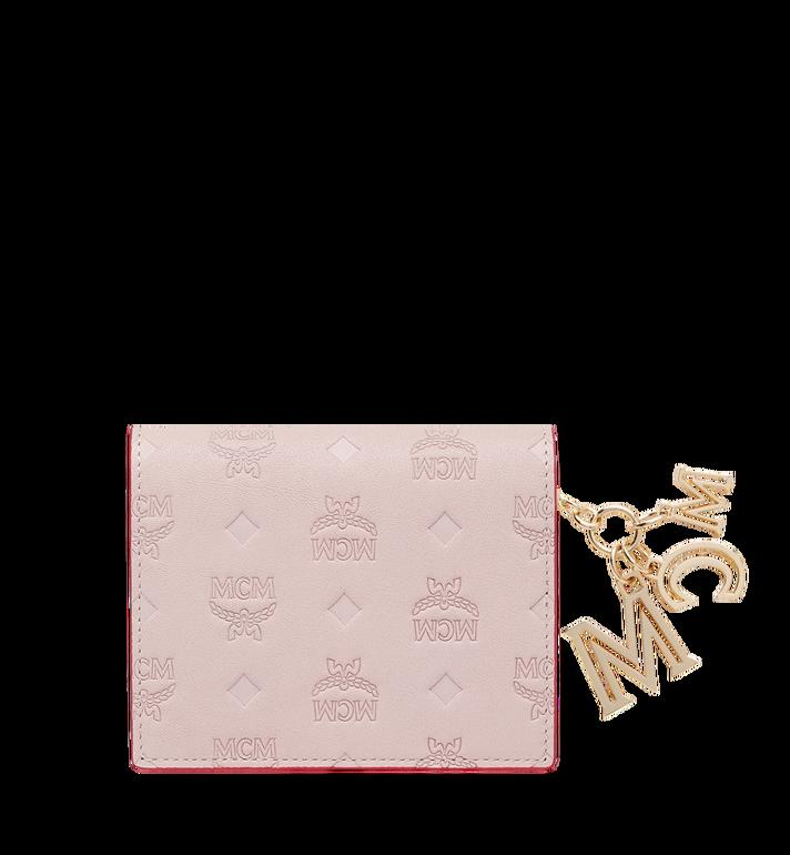 MCM Portefeuille plat en cuir monogrammé avec breloque MYS9SKM40QA001 AlternateView3