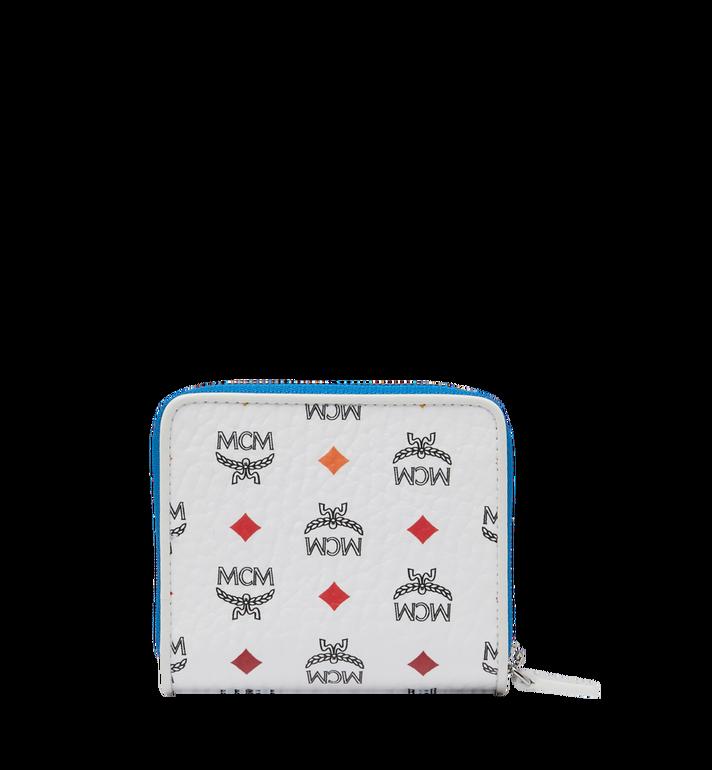 MCM Zip Around Wallet in Skyoptic Visetos MYS9SSV66WA001 AlternateView3