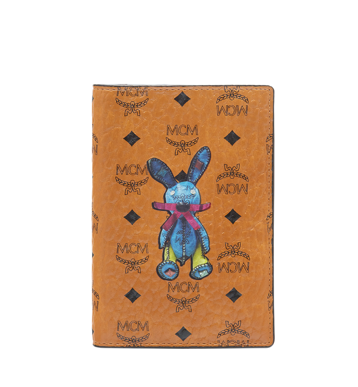 MCM Rabbit Passport Holder in Visetos MYV6AXL45CO001 AlternateView