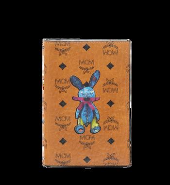 MCM Rabbit Passport Holder in Visetos MYV6AXL45CO001 AlternateView