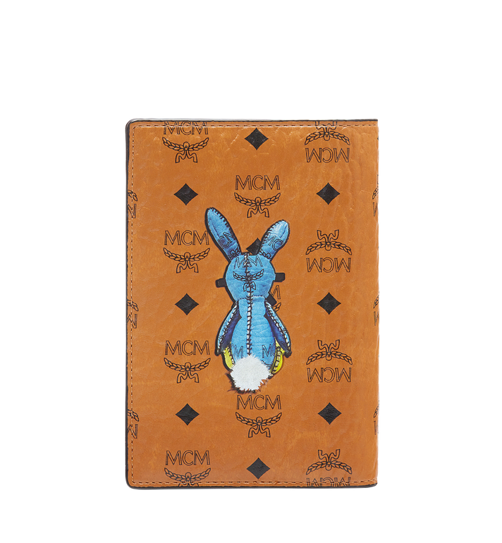 MCM Rabbit Passport Holder in Visetos MYV6AXL45CO001 AlternateView3