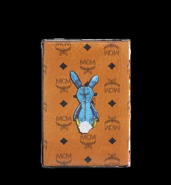 MCM Rabbit Passport Holder in Visetos MYV6AXL45CO001 AlternateView3