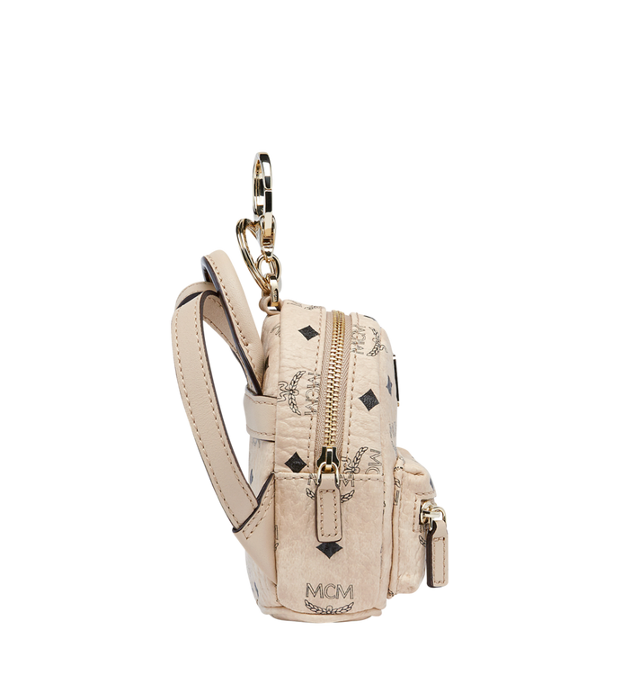 MCM Backpack Charm in Visetos MYZ7AVE26IG001 AlternateView3