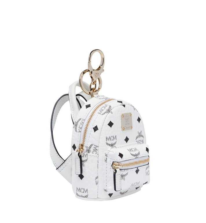MCM Backpack Charm in Visetos MYZ7AVE26WT001 AlternateView2