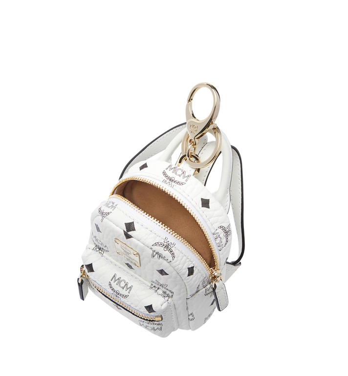 MCM Backpack Charm in Visetos MYZ7AVE26WT001 AlternateView5