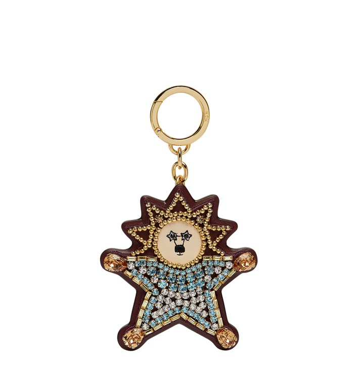MCM Crystal Star Lion Charm in Leather MYZ7AXA22LS001 AlternateView