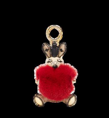 MCM Rabbit Fur Heart Animal Charm MYZ7AXL04RY001 AlternateView