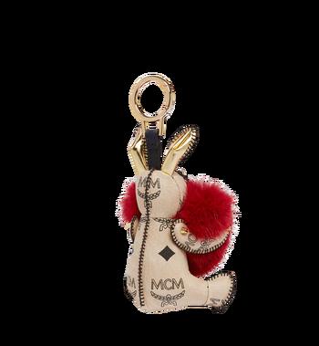MCM Rabbit Fur Heart Animal Charm MYZ7AXL04RY001 AlternateView2