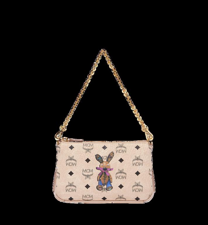 MCM Rabbit Top Zip Shoulder Bag in Visetos MYZ7AXL22IG001 AlternateView