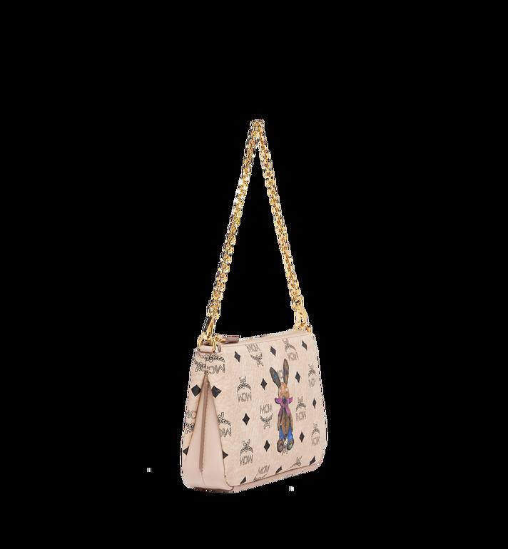 MCM Rabbit Top Zip Shoulder Bag in Visetos MYZ7AXL22IG001 AlternateView2