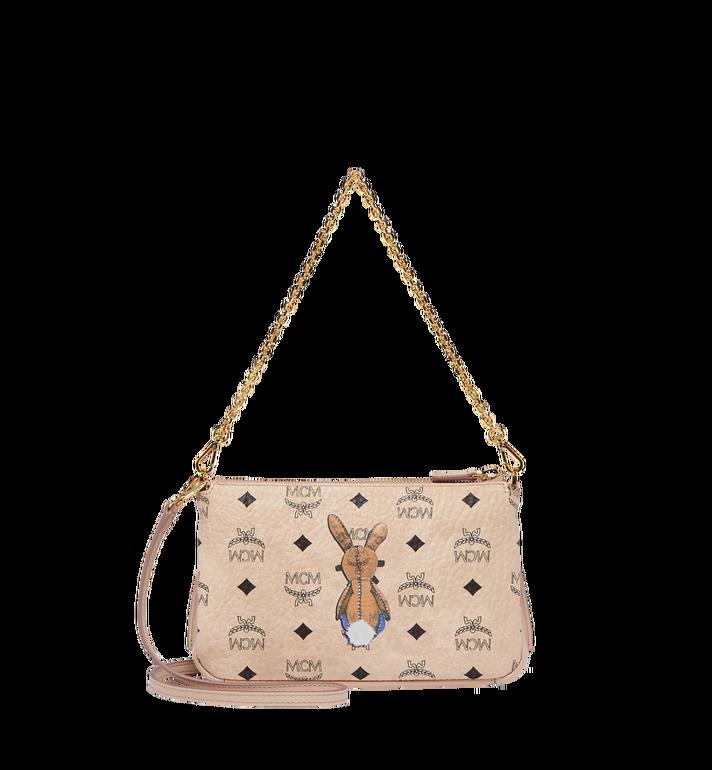 MCM Rabbit Top Zip Shoulder Bag in Visetos MYZ7AXL22IG001 AlternateView4