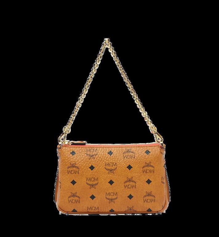 MCM Millie Top Zip Shoulder Bag in Visetos AlternateView