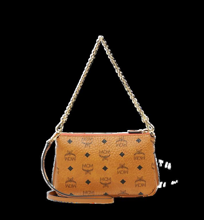 MCM Millie Top Zip Shoulder Bag in Visetos AlternateView4