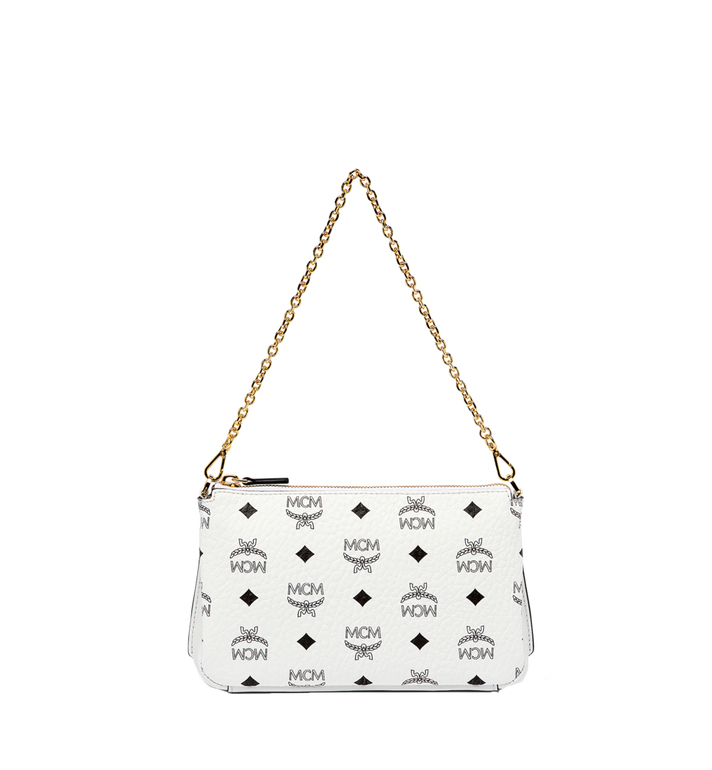 MCM Millie Top Zip Shoulder Bag in Visetos MYZ7SME02WT001 AlternateView