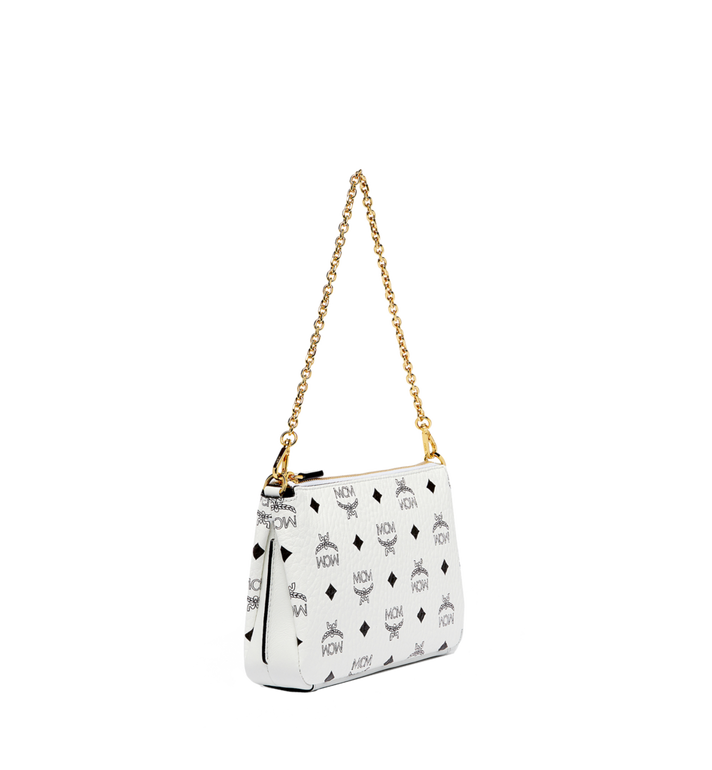 MCM Millie Top Zip Shoulder Bag in Visetos MYZ7SME02WT001 AlternateView2
