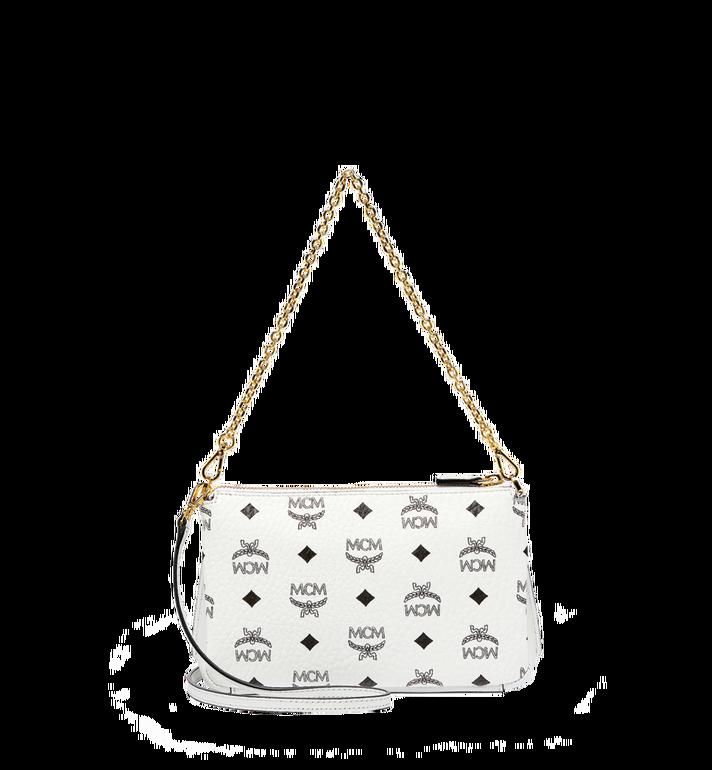 MCM Millie Top Zip Shoulder Bag in Visetos MYZ7SME02WT001 AlternateView4