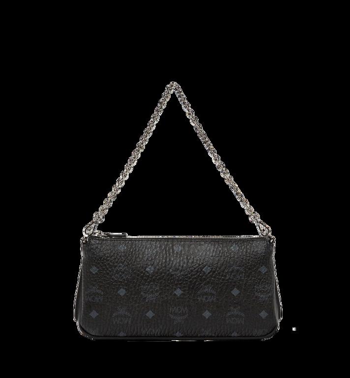 MCM Millie Top Zip Shoulder Bag in Visetos MYZ7SME03BK001 AlternateView