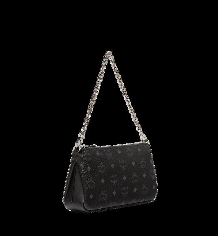 MCM Millie Top Zip Shoulder Bag in Visetos MYZ7SME03BK001 AlternateView2