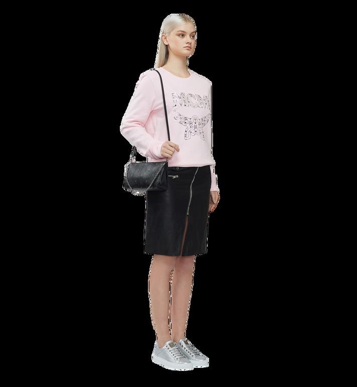 MCM Millie Top Zip Shoulder Bag in Visetos MYZ7SME03BK001 AlternateView7