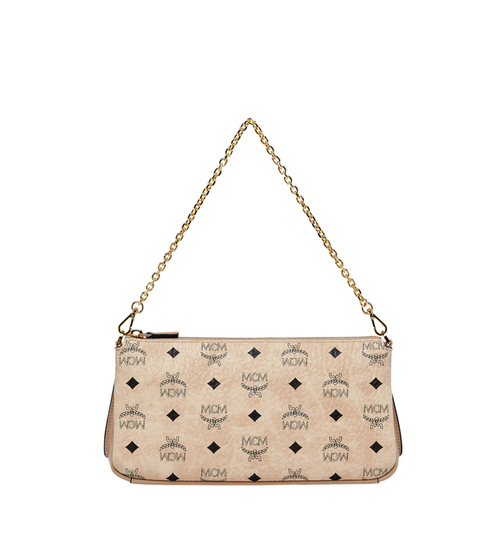 MCM Millie Top Zip Shoulder Bag in Visetos MYZ7SME03IG001 AlternateView