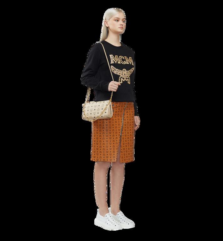 MCM Millie Top Zip Shoulder Bag in Visetos MYZ7SME03IG001 AlternateView6