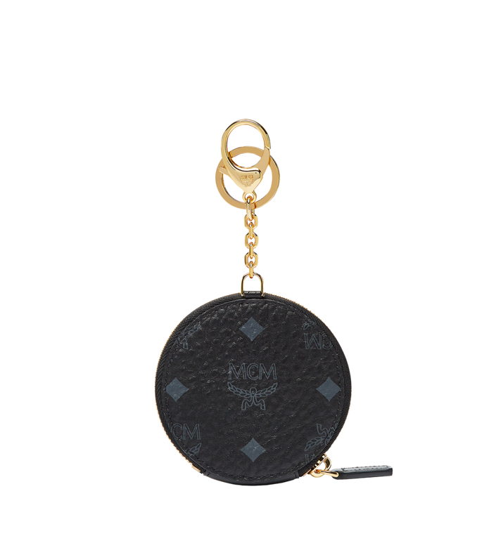 MCM Coin Charm in Visetos Original MYZ7SVC13BK001 AlternateView3