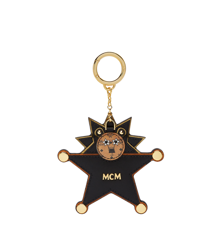 MCM Star Lion Charm in Visetos MYZ7SXA22BK001 AlternateView