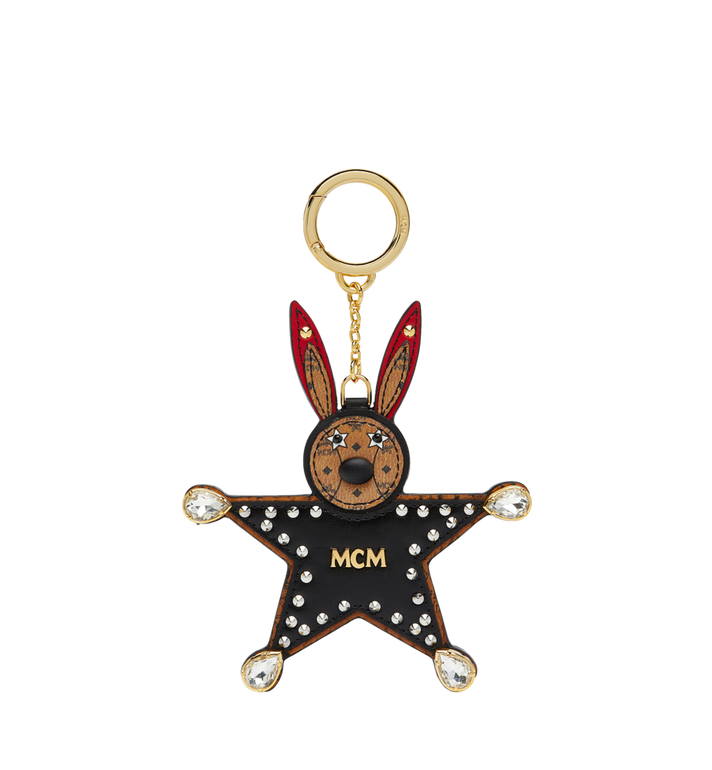 MCM Star Rabbit Charm in Visetos MYZ7SXA23BK001 AlternateView