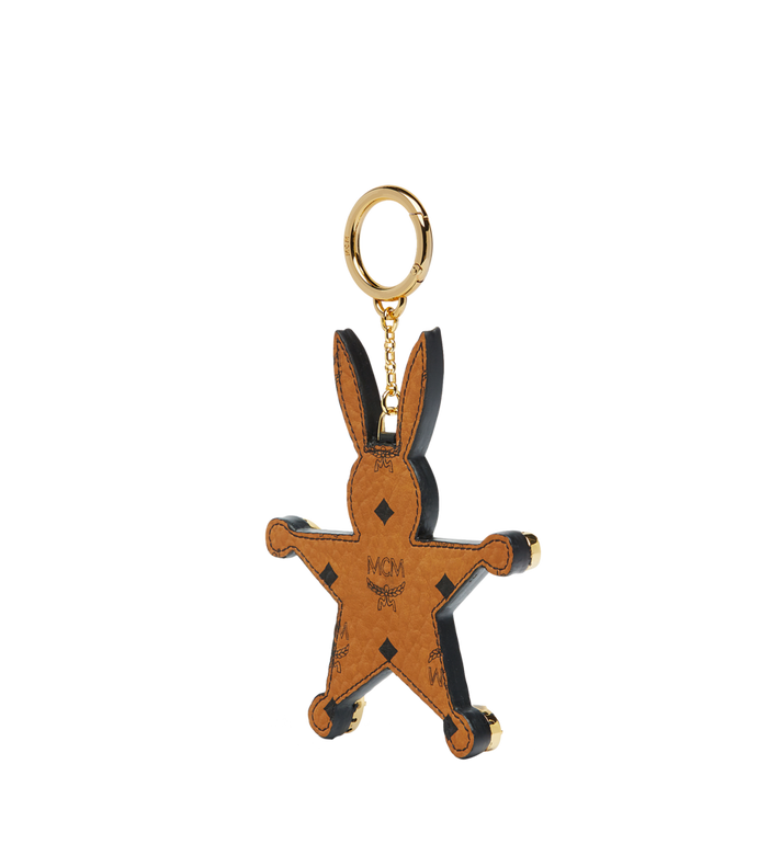 MCM Star Rabbit Charm in Visetos MYZ7SXA23BK001 AlternateView2