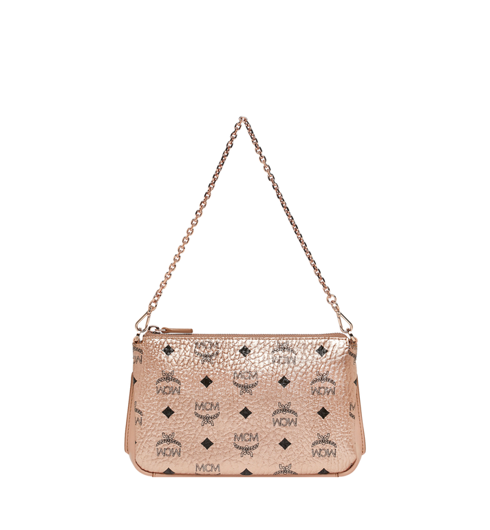 MCM Millie Crossbody-Tasche mit Reissverschluss oben in Visetos AlternateView