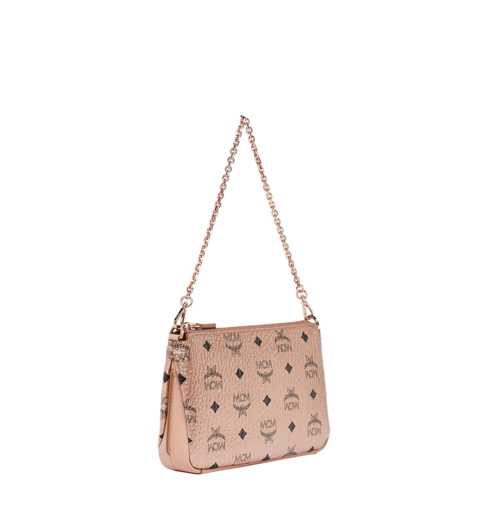 MCM Millie Crossbody-Tasche mit Reissverschluss oben in Visetos AlternateView2