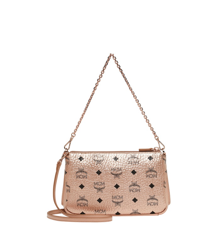 MCM Millie Crossbody-Tasche mit Reissverschluss oben in Visetos AlternateView4