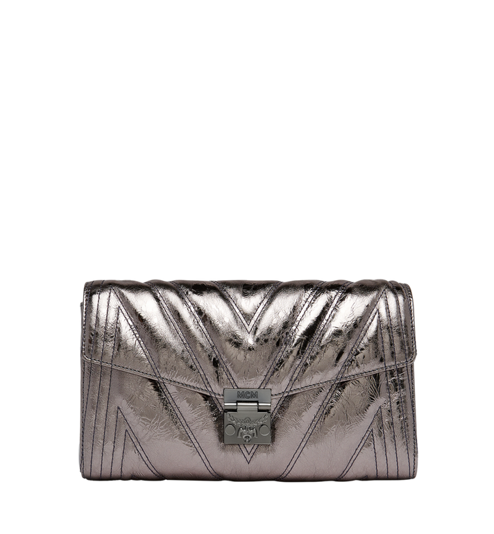 MCM Millie Flap Crossbody in Quilted Metallic Leather MYZ8AME32SB001 AlternateView