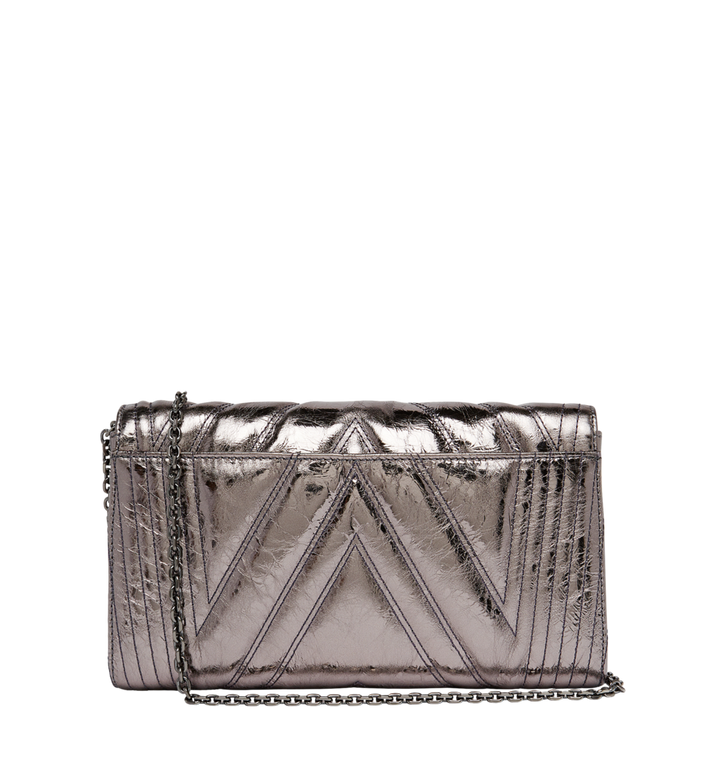 MCM Millie Flap Crossbody in Quilted Metallic Leather MYZ8AME32SB001 AlternateView4