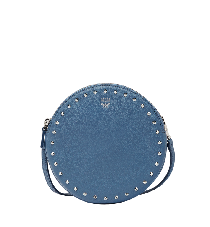 MCM Double Tambourine Crossbody in Studded Outline MYZ8APA66HF001 AlternateView