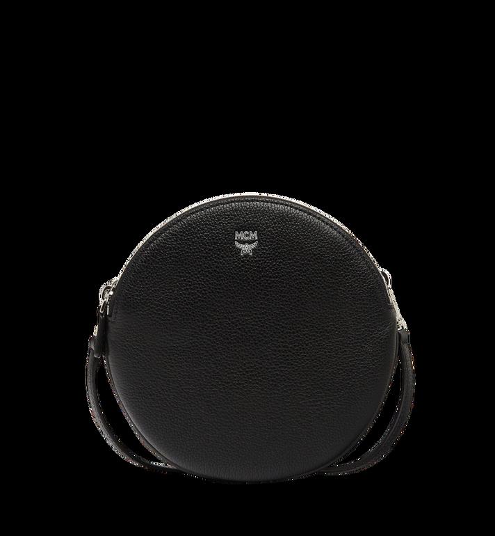 MCM Double Tambourine Crossbody in Grained Leather MYZ8APA76BK001 AlternateView