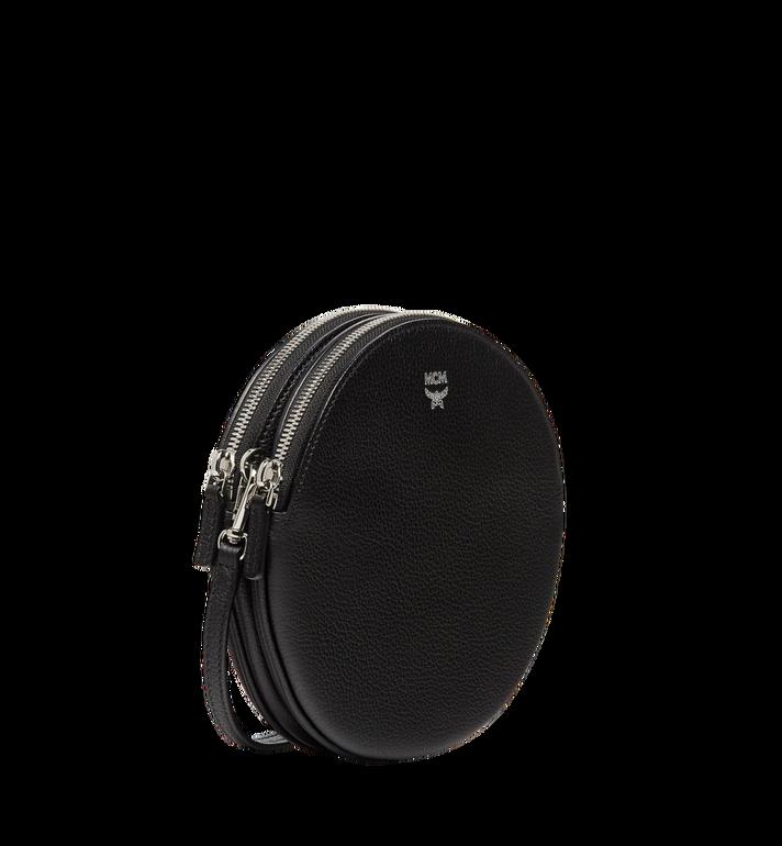 MCM Double Tambourine Crossbody in Grained Leather MYZ8APA76BK001 AlternateView2